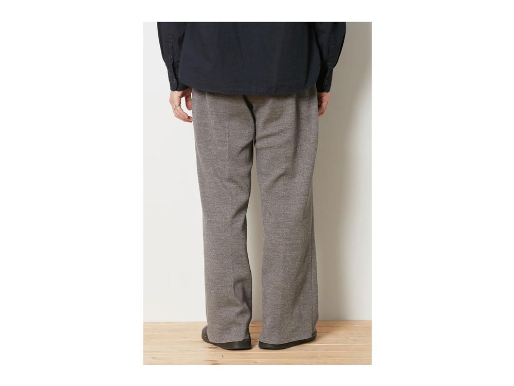 Wool Linen/Pe Pants Wide  M Black
