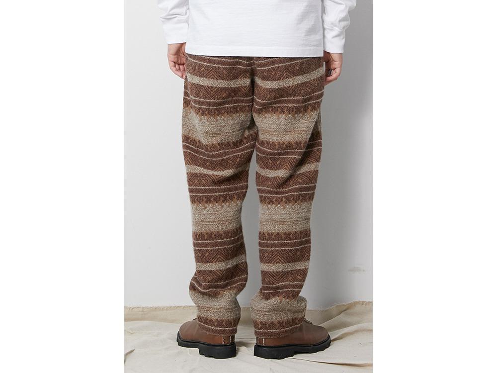 Shetland Cotton JQ Tweed Pants L Grey