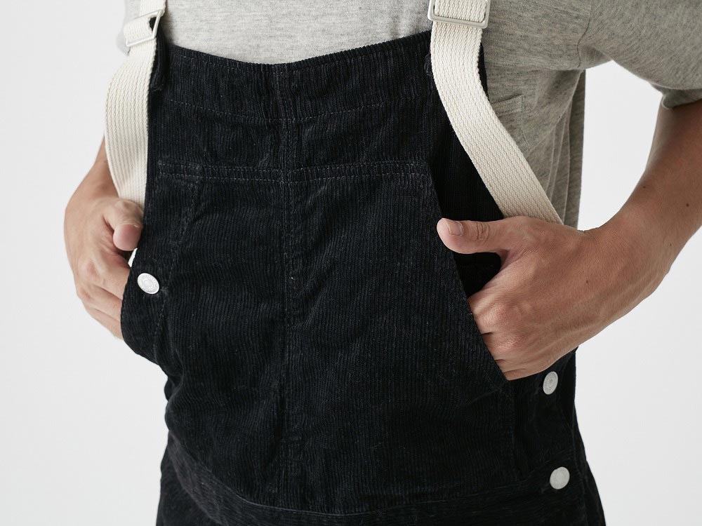 Linen corduroy overalls 1 Black5