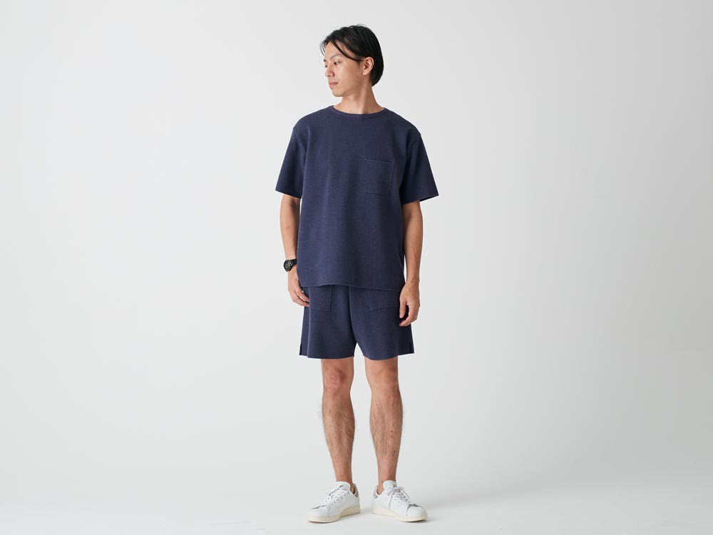 Cotton Dry Shorts S Navy1