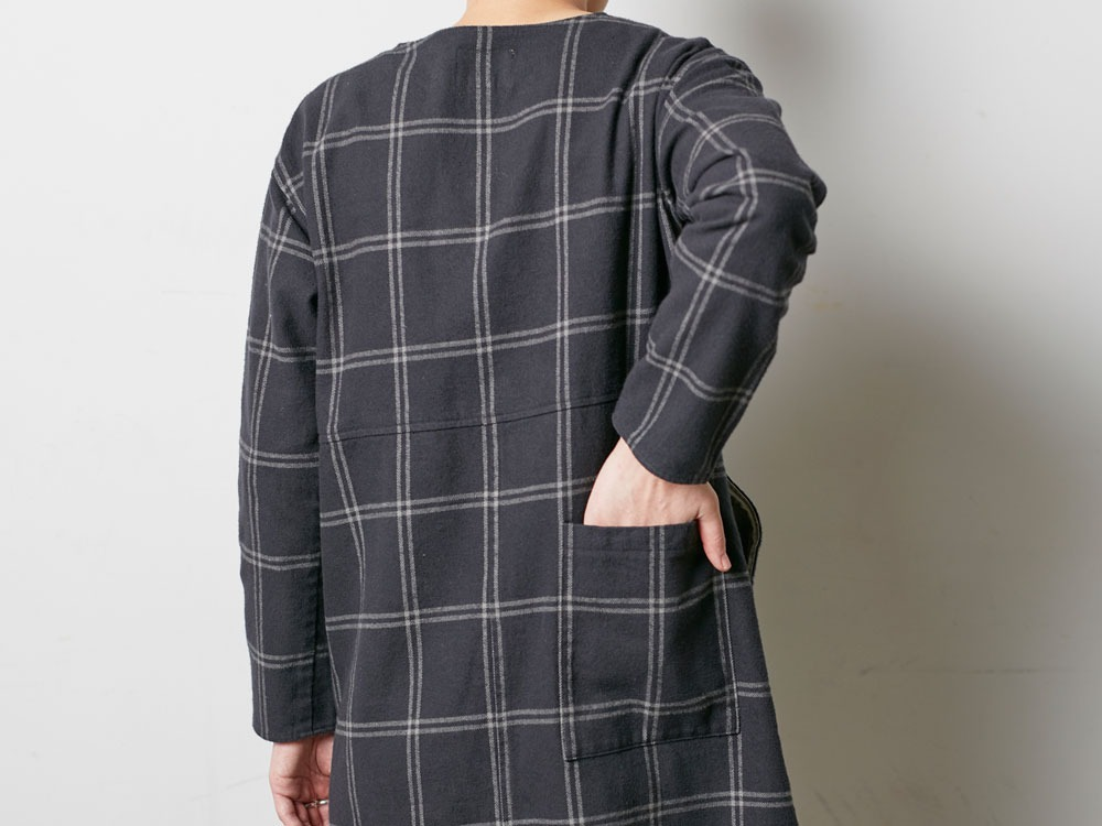 W's Check Heavy Flannel Dress 2 Black8