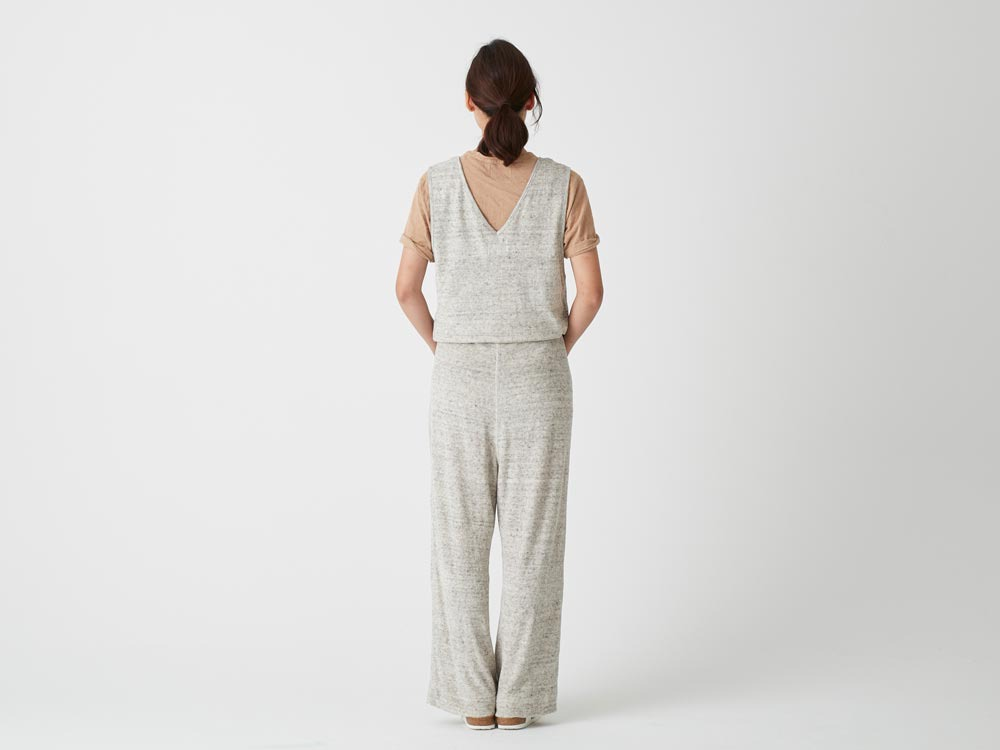 W's Linen Pile Overalls 2 Charcoal4