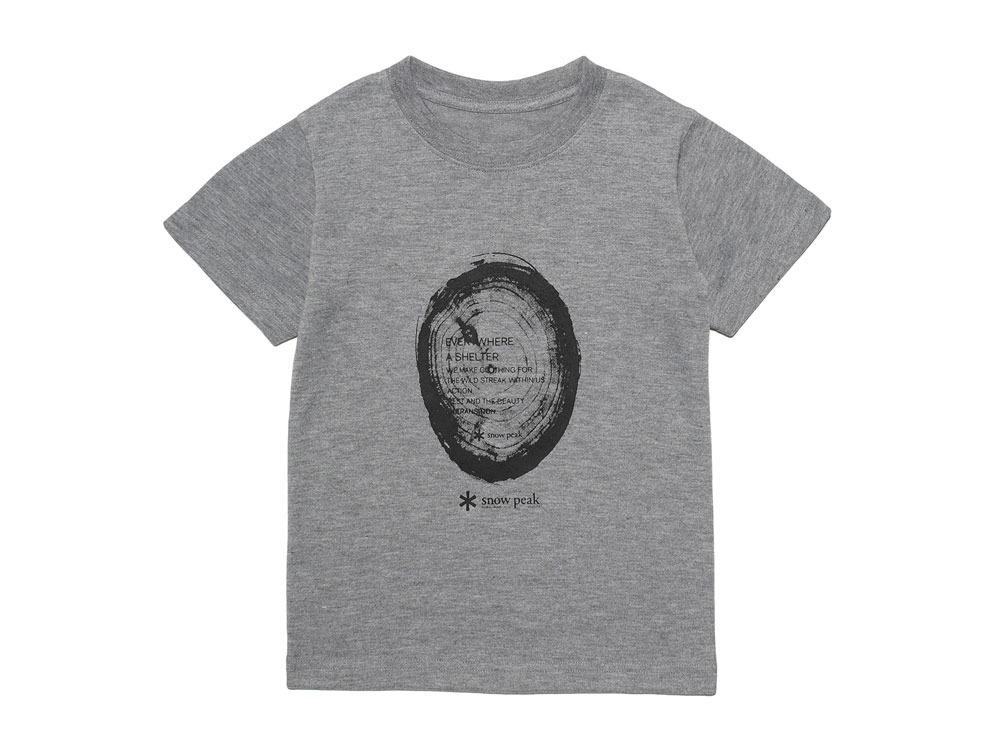 Kid's Printed Tshirt:Woodcut 4 Grey0