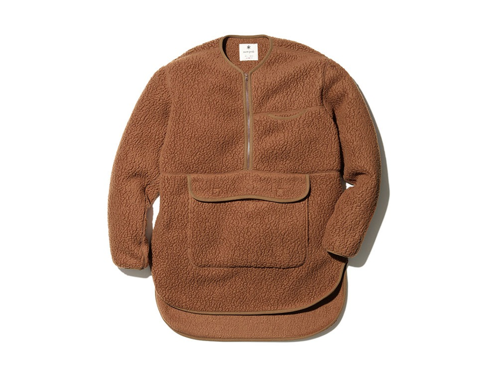 Thermal Boa Fleece Pullover S Brown