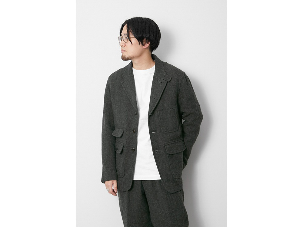 Wo/Li Herringbone Tweed Jacket XL MGR