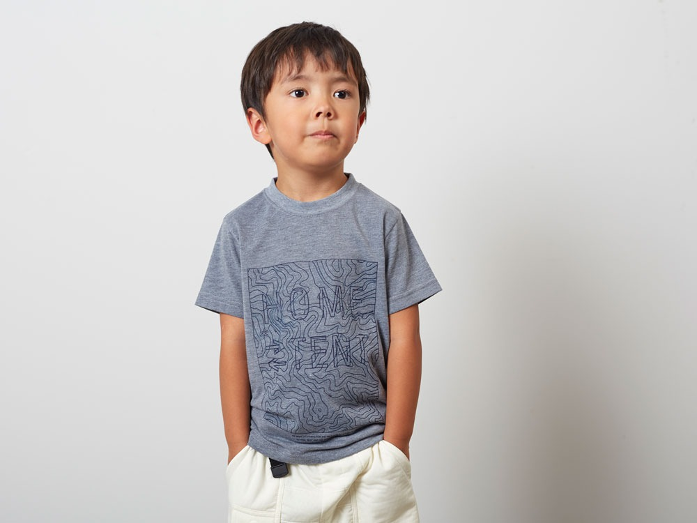 Kid'sQuickDryTshirt/Contour 2 M.grey7