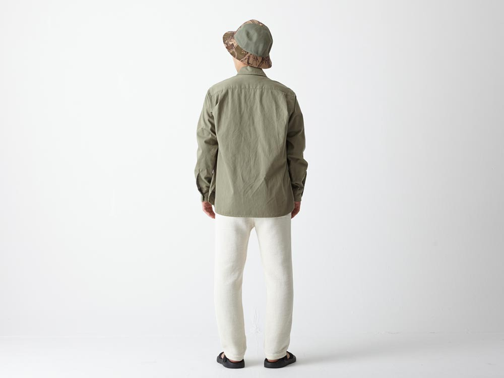 Herringbone Field Shirt M Olive3