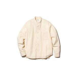 アルティメイトピマ ポプリン スタンドカラー シャツ