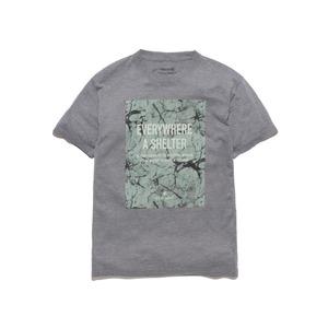ロックウォールプリントティーシャツ