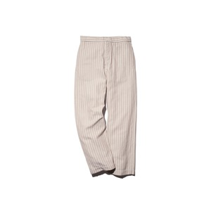 Cotton Herringbone Stripe Wide Pants