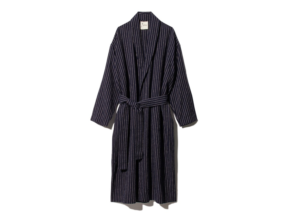 C/L Stripe Robe 2 NAVY