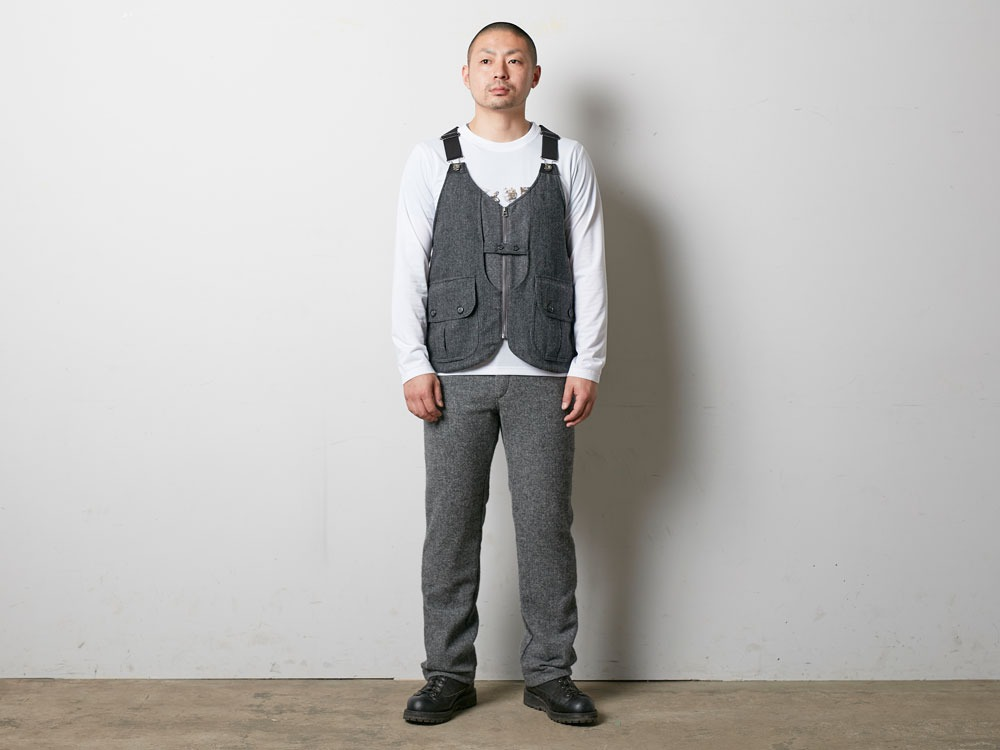 Wool TAKIBI Vest S Brown2