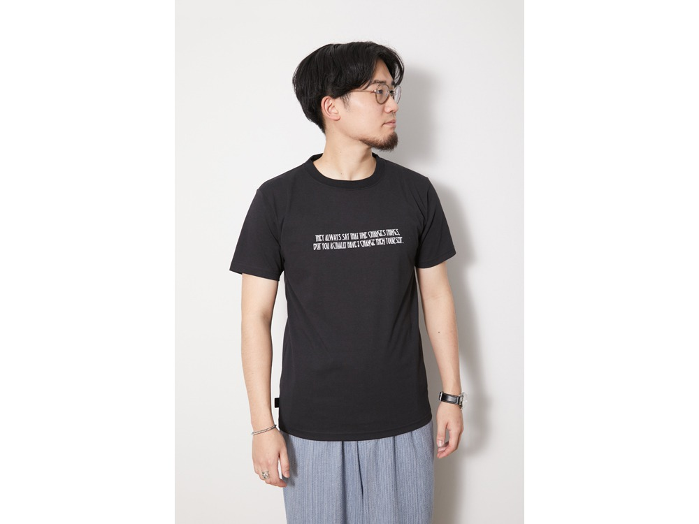 Typographical Tee #7 M Black