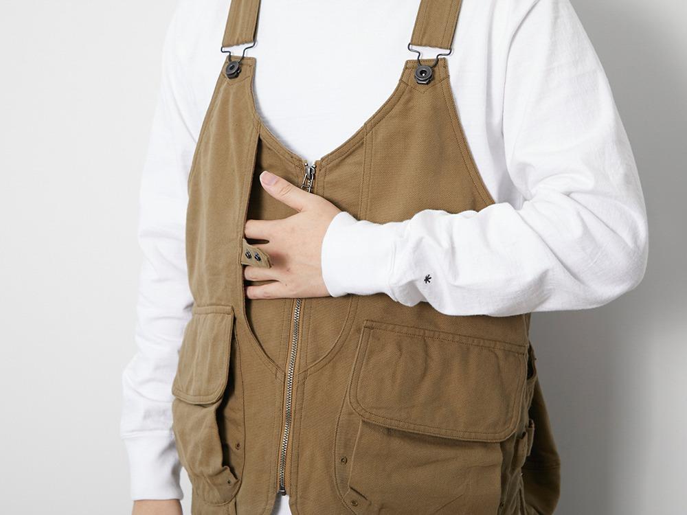 TAKIBI Duck Vest L Beige