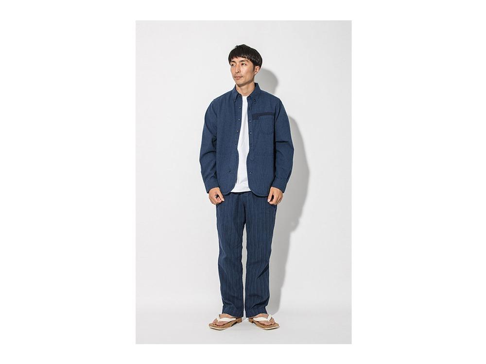 現代のワークシャツ  XL Blue