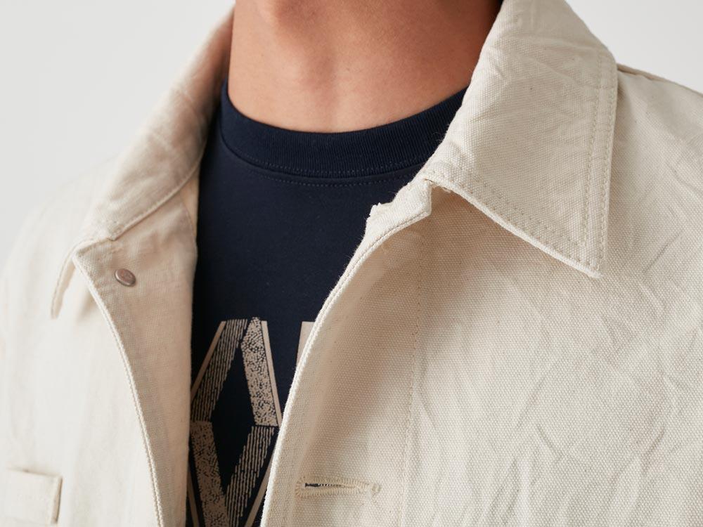 Okayama OX Work Jacket L Ecru4