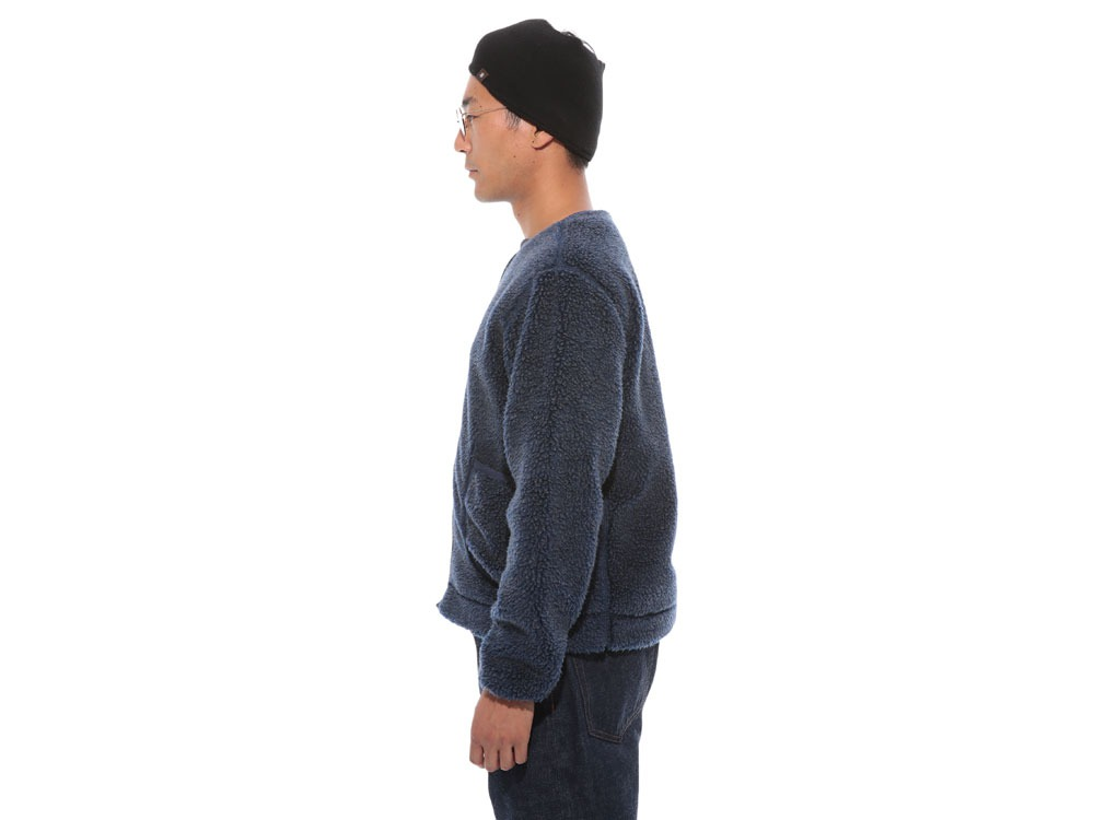 Soft Wool Fleece Jacket S Blue3