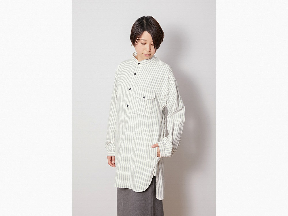 TAKIBI Long Shirt M Ecru