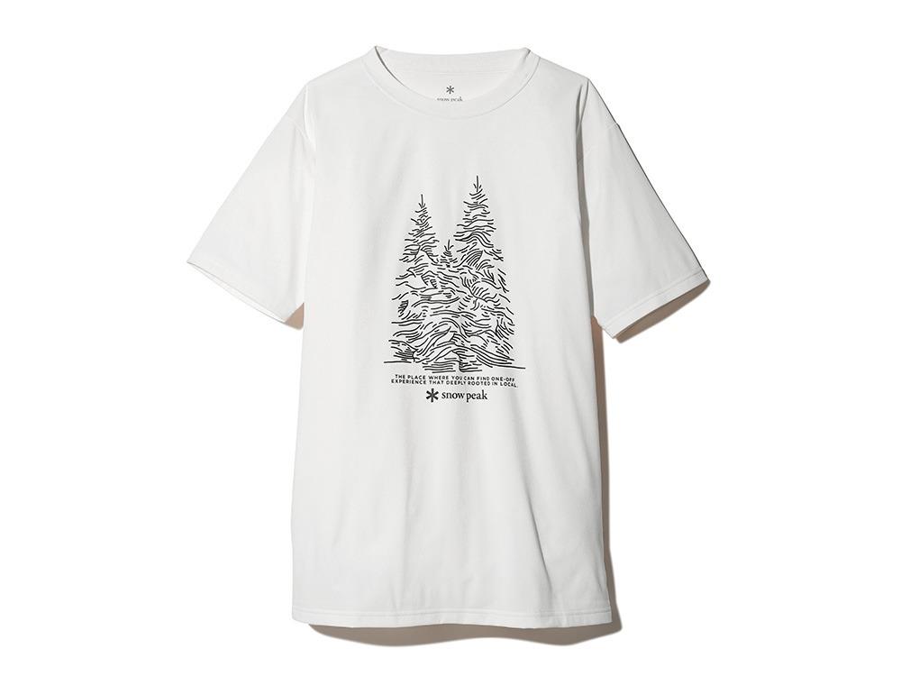 Graphic Tee Snow Tree M White