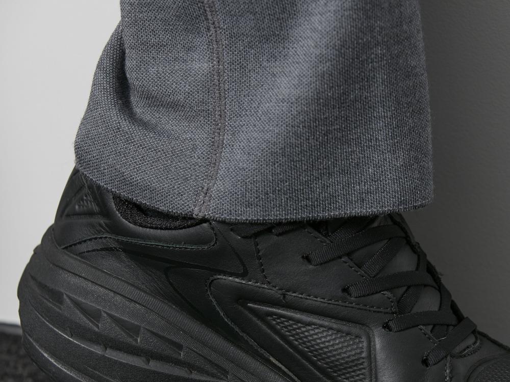ウールポリエステルレギュラーフィットパンツ M ブラック