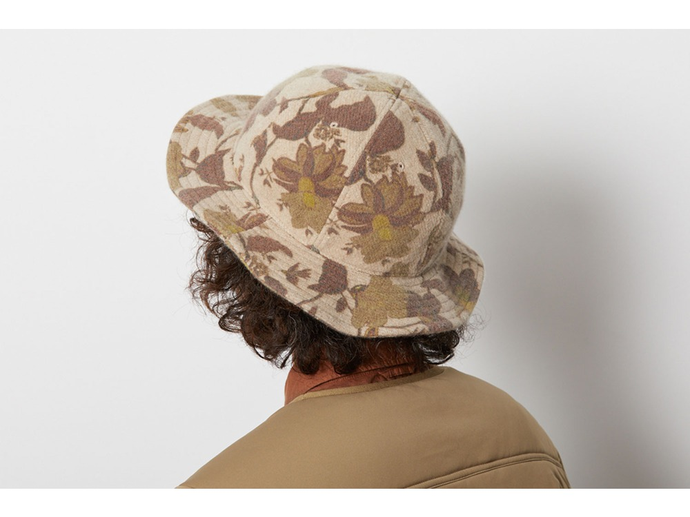Printed Wo/Ny Bucket Hat One Beige