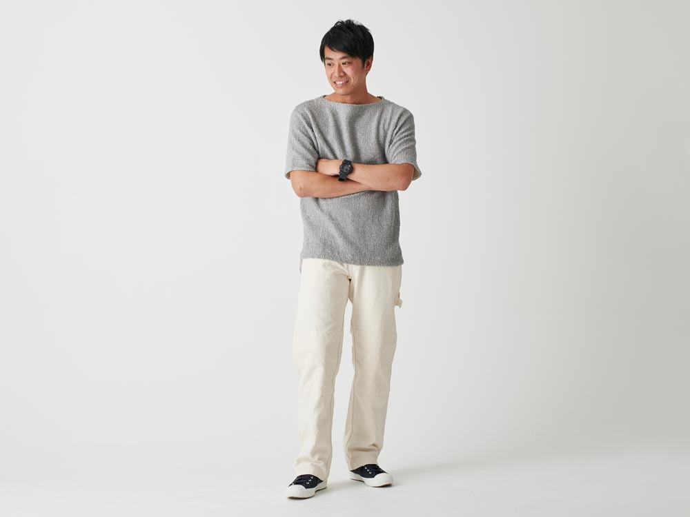 Long Loop Sweat T-Shirt 1 Grey1