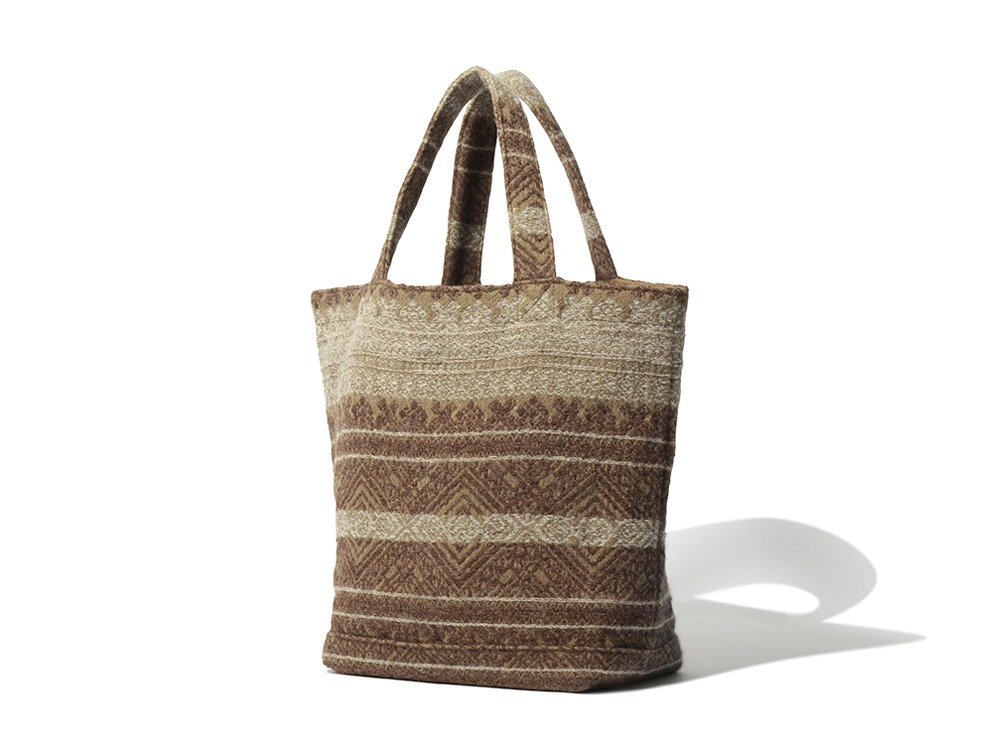 Shetland Cotton JQ Tote Bag One Brown