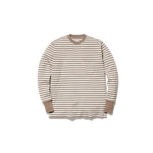 Wool Linen/Pe Crewneck Long Sleeve