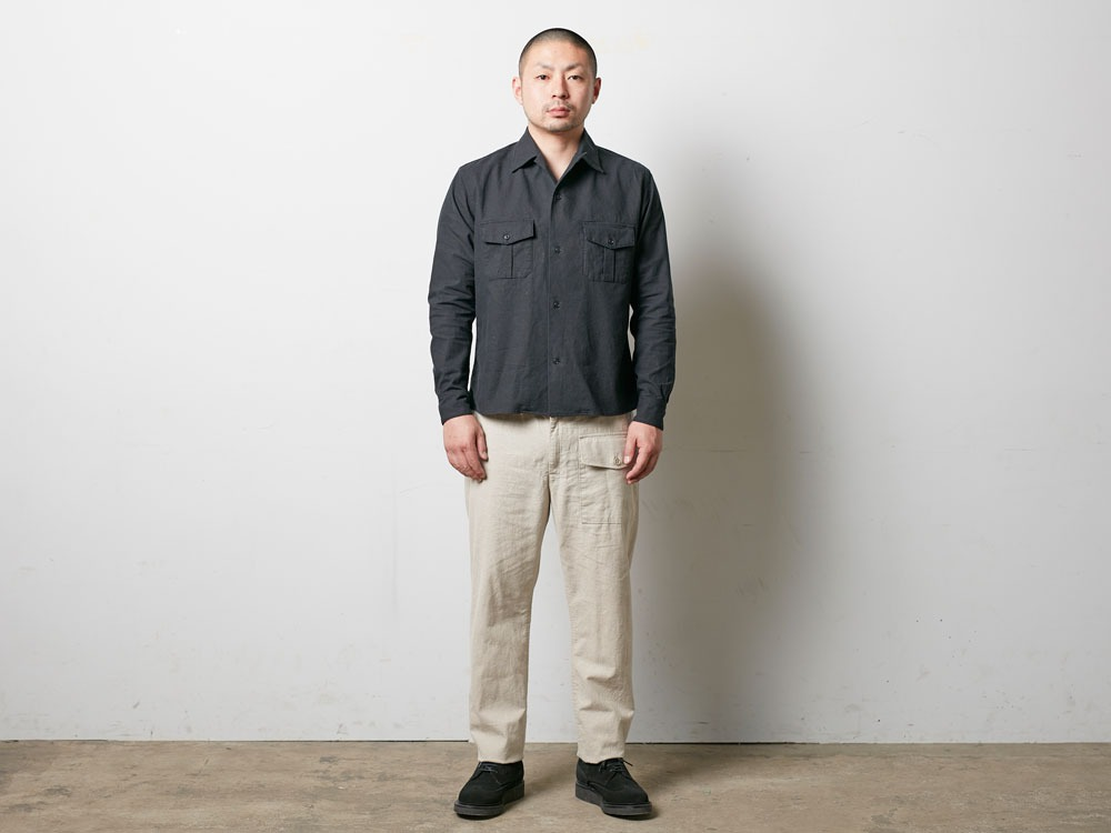 Safari Linen Shirt M Black1