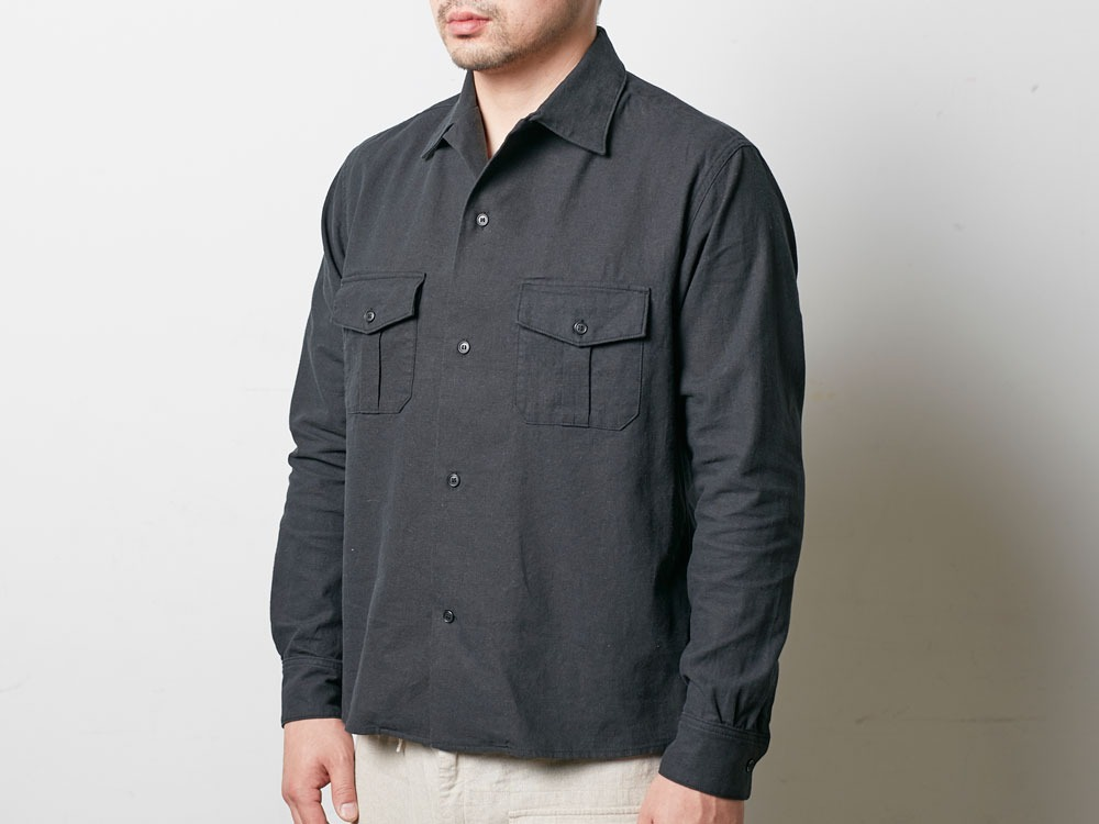 Safari Linen Shirt M Black4