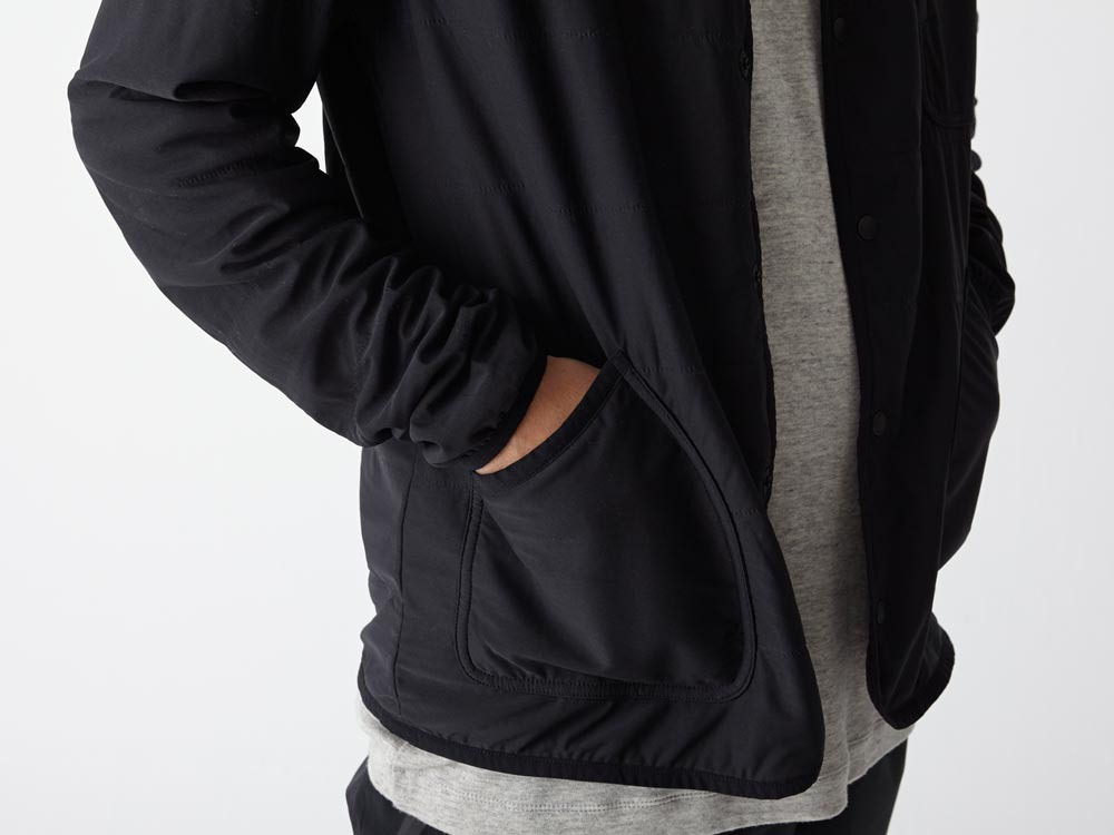 FlexibleInsulated Cardigan L Black4
