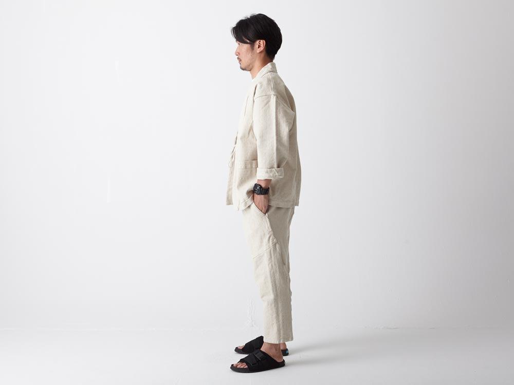 Linen HAORI Jacket S Ecru2
