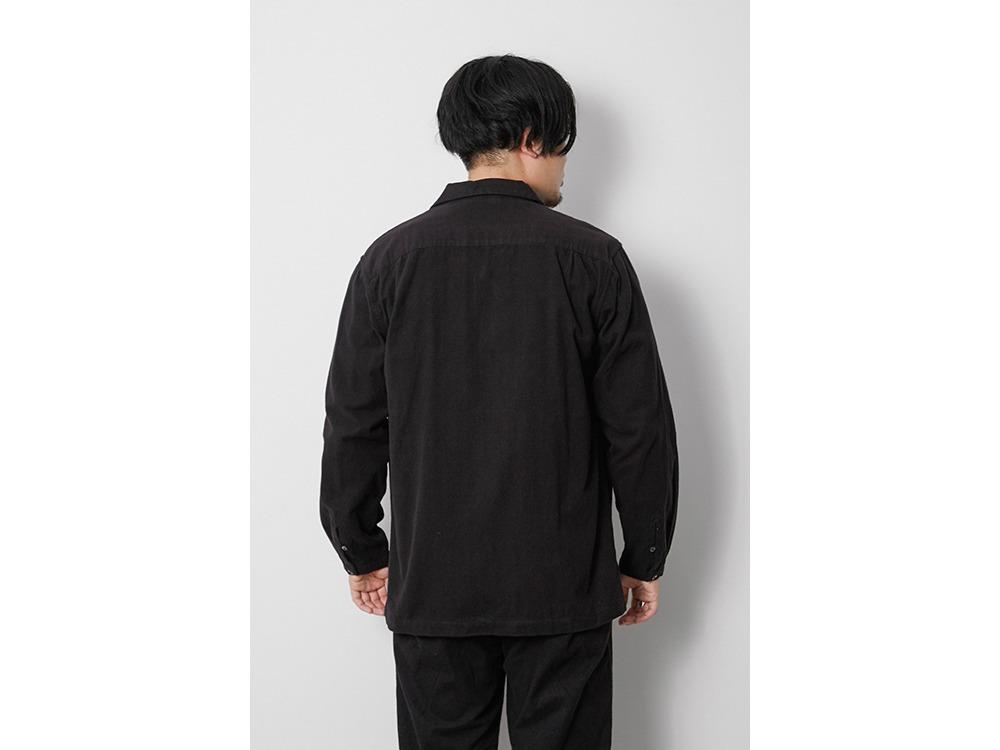 Organic Cotton Suede Shirt S Ecru