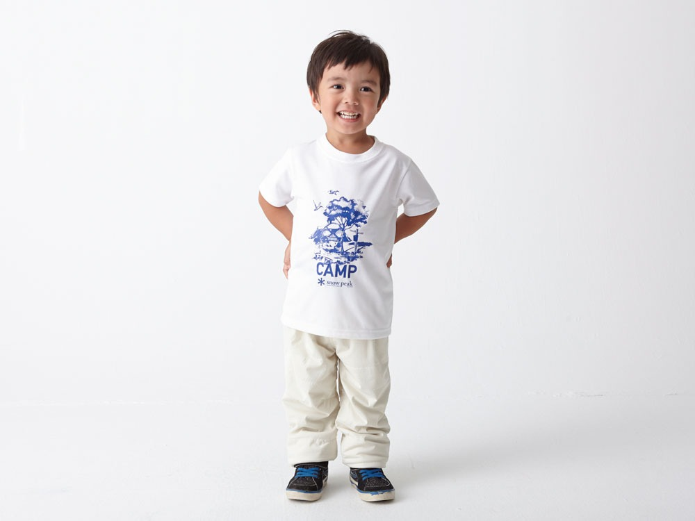 Kid's Printed Tshirt:Camp Field 1 Navy1