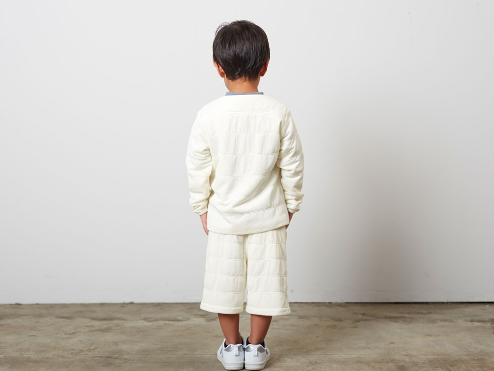KidsFlexibleInsulatedCardigan 2 White3