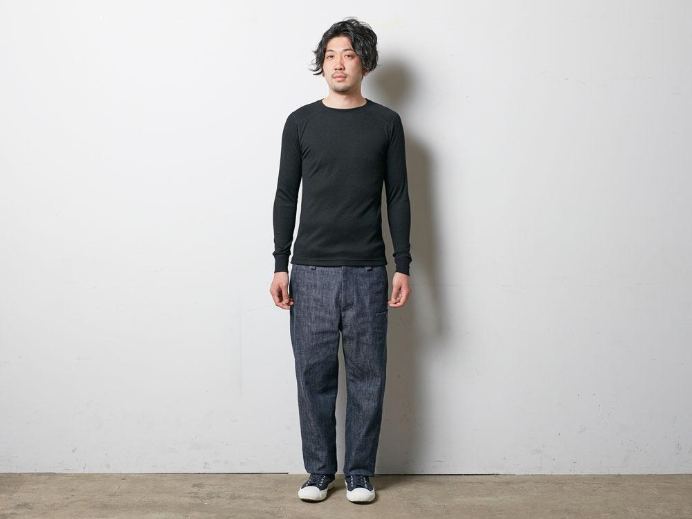 Super 100 Wool Shirt M Navy1