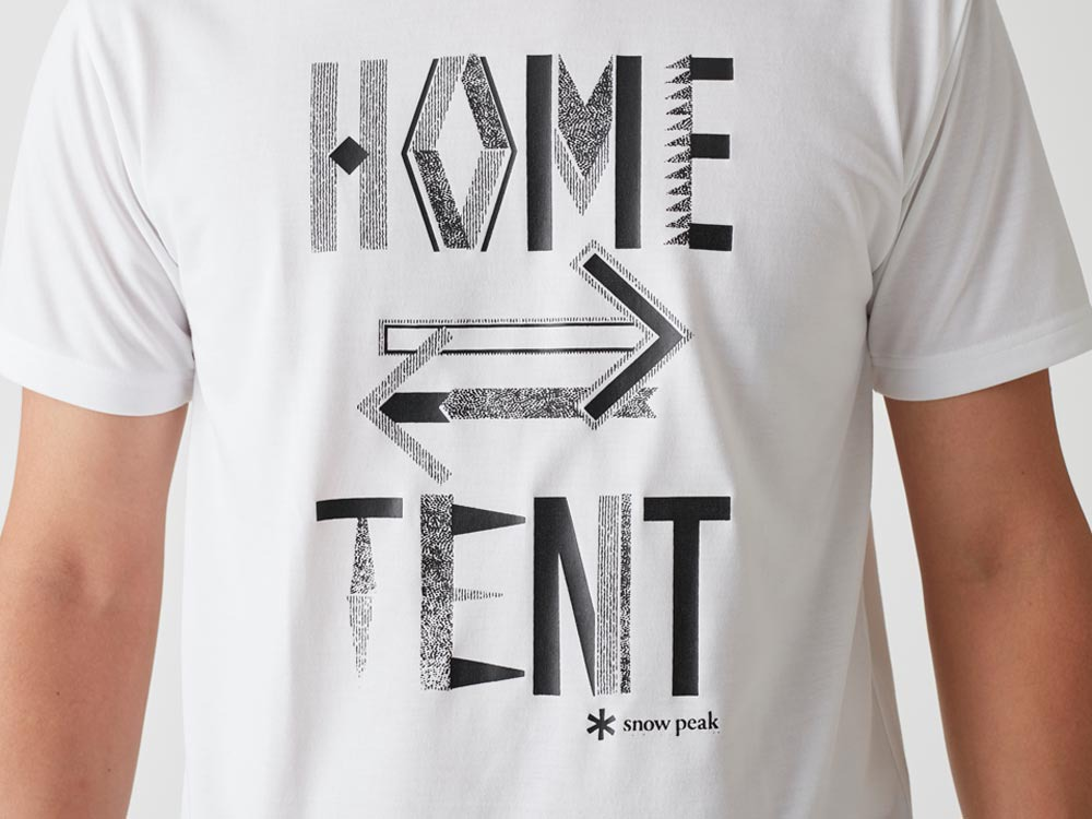 Printed Tshirt:HomeTent XL White1