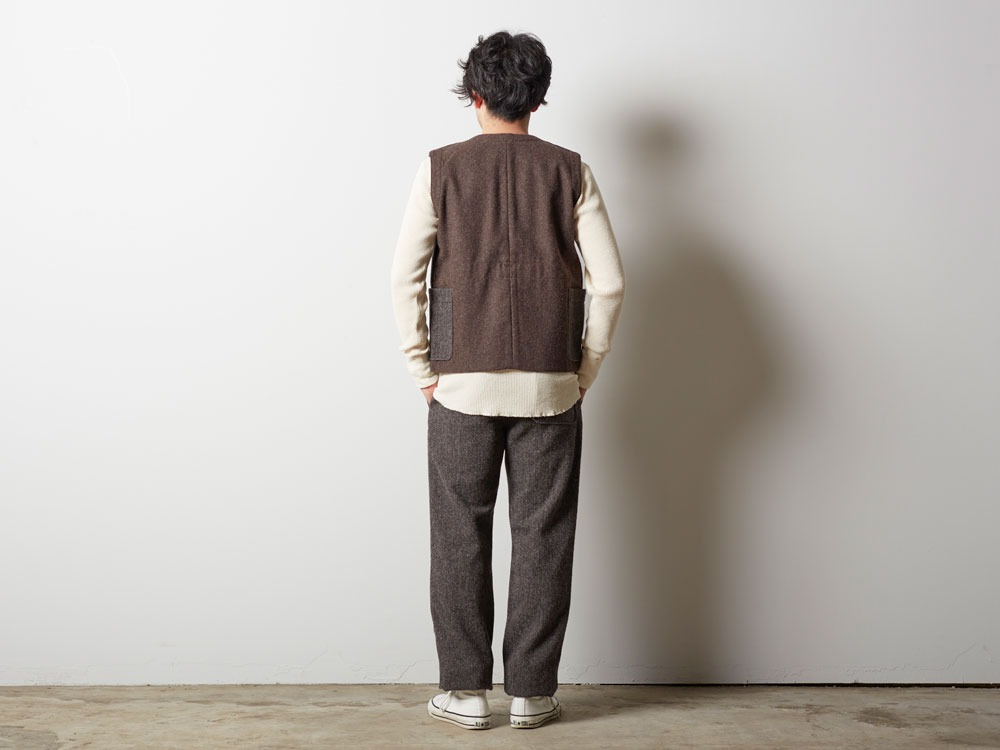 Camping Wool Vest M Brown4