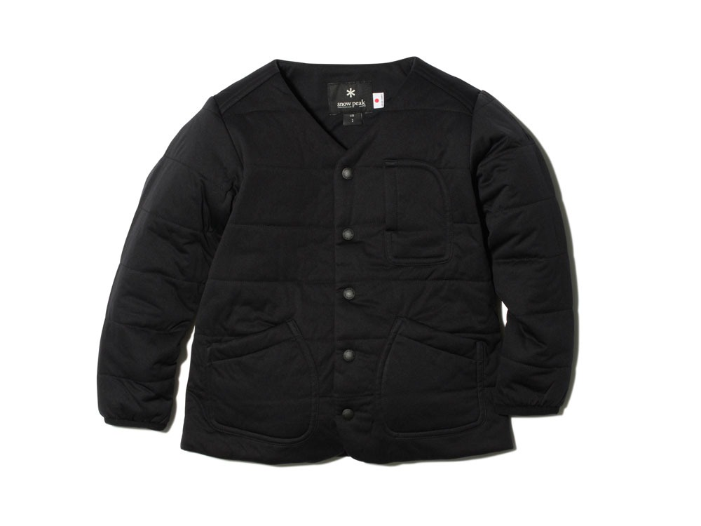 Kids Flexible Insulated Cardigan 1Black