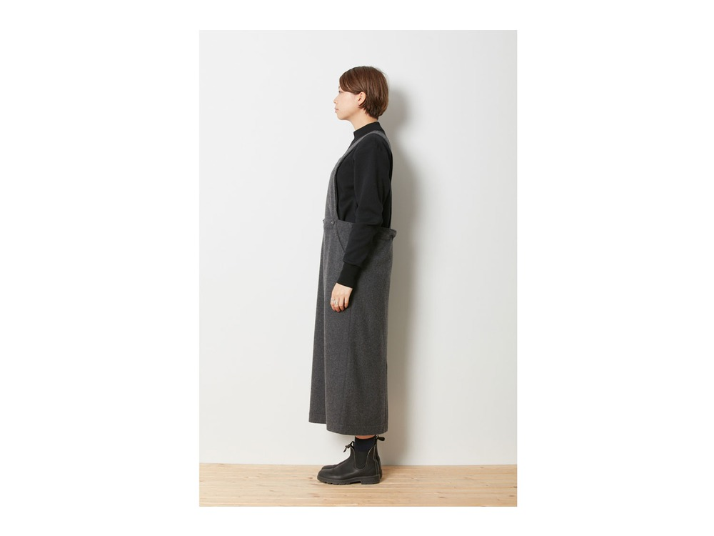 Wo/Ny Apron Skirt 2 Brown
