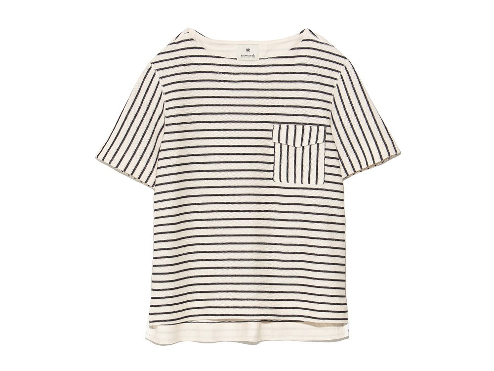 C/L Striped Pullover M Ecru x Navy0