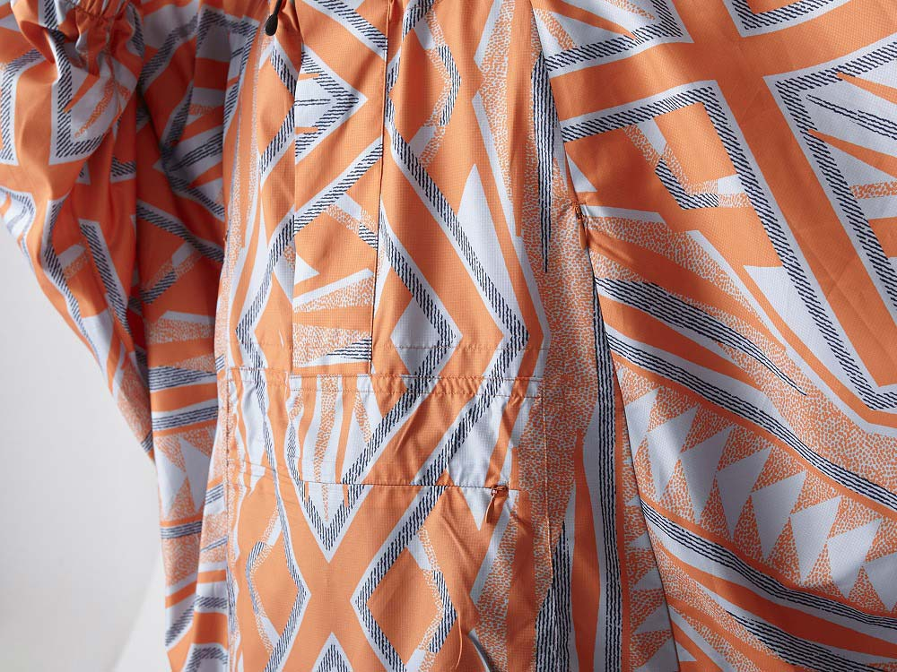 Printed Poncho:Solid Landscape 2 Orange8