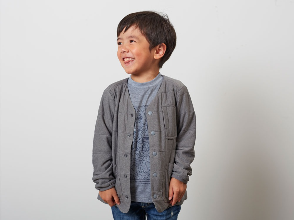 KidsFlexibleInsulatedCardigan 2 M.Grey8