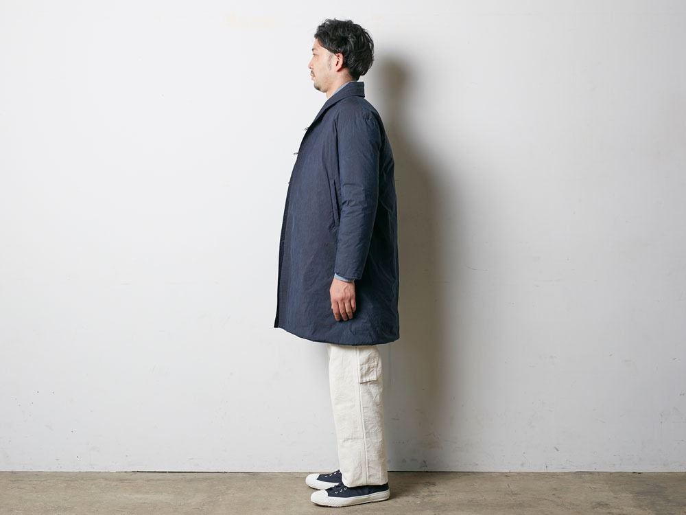 Indigo C/N Down Long Coat L Indigo10