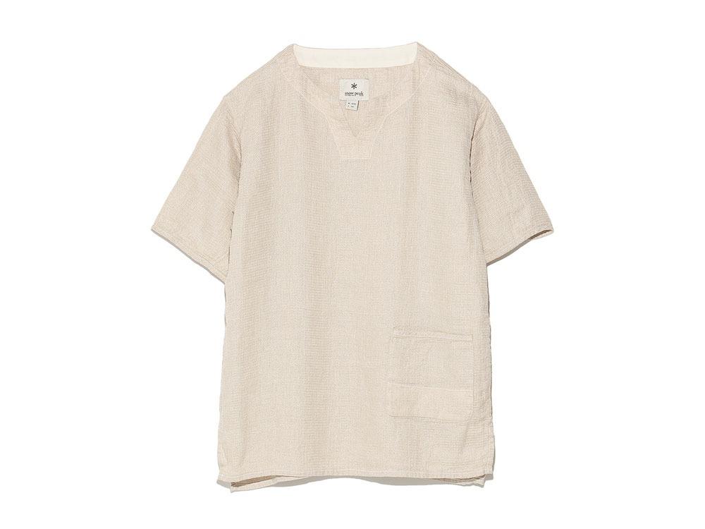 Linen Waffle Tshirt M Natural0