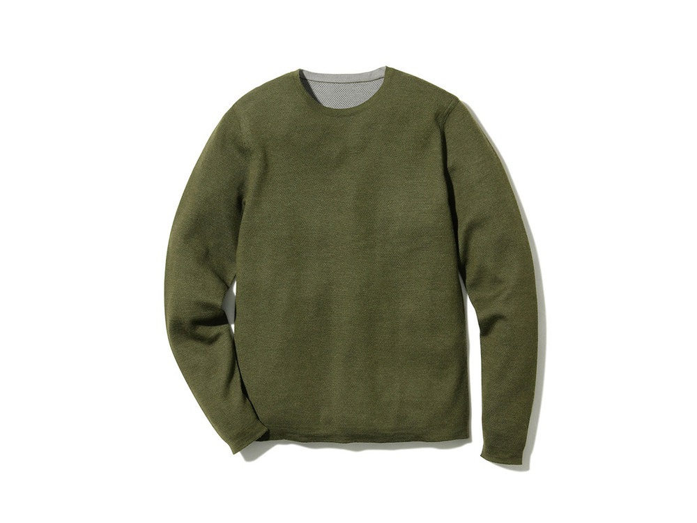 Crew Neck Base Layer L Khaki