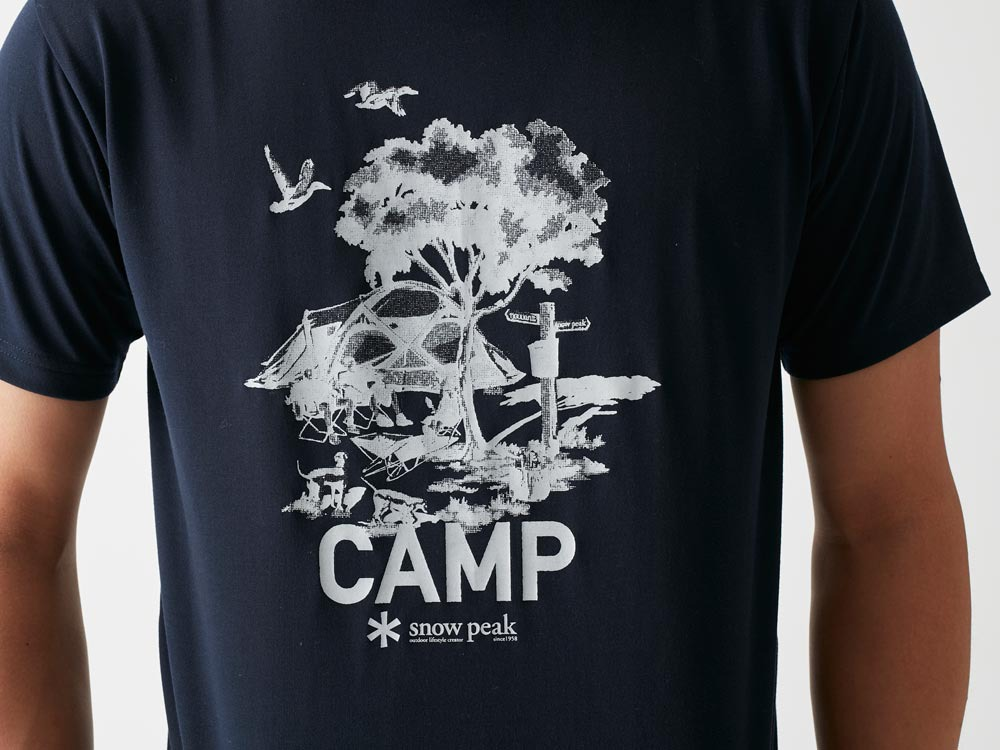 Printed Tshirt:Camp Field S Navy1