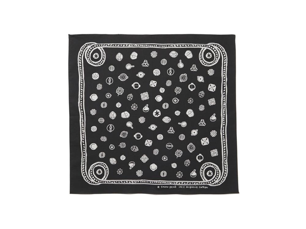OG Cotton SP Dot Bandana One Black
