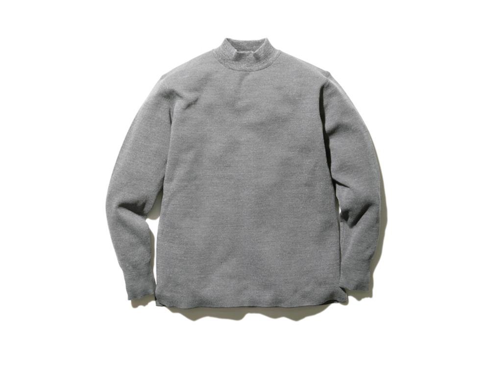 Li/W/Pe Mockneck Long Sleeve M Grey