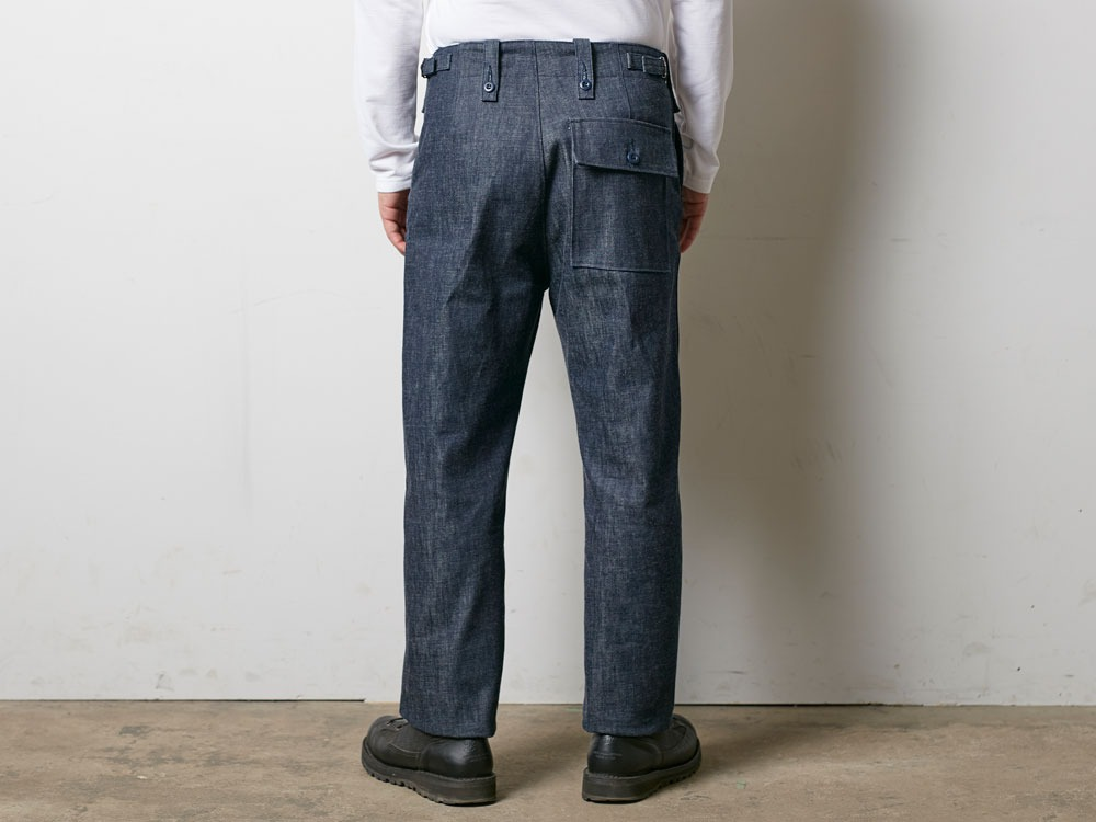 Denim Military Pants 1 Indigo4